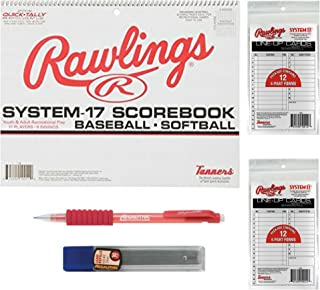 Rawlings Baseball/Softball Scorebook with Lineup Cards and Pencils