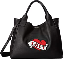 Handbag with Love Moschino Patch