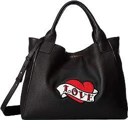 Handbag with Love Moschino Patch
