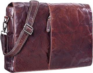 "STILORD Joel"" Messenger Bag Leder Herren Damen Umhängetasche Aktentasche Uni Schultertasche Büro Office Vintage echtes Leder"