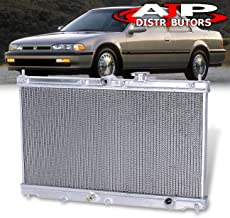 AJP Distributors Dual Core Aluminum Performance Racing Engine Oil Cooling Radiator For 1990 1991 1992 1993 1994 1995 1996 Honda Accord Prelude CB BB F22/H23 90 91 92 93 94 95 96 Upgrade Replacement