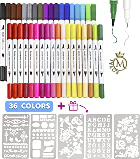 Colouring pens Dual Tip Brush 36 with Brush and Fine Tips for Drawing, Perfect Markers for Kids & Adults for coloring and ...