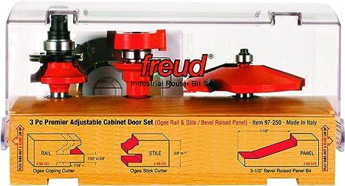 2021 Freud 3 Piece Premier Adjustable wholesale Cabinet Bit Set discount (97-250) sale