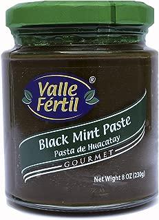 Valle Fertil Black Mint Paste ( Pasta de Huacatay) 8 oz (230 gr) Glass Jar (Pack of 3)