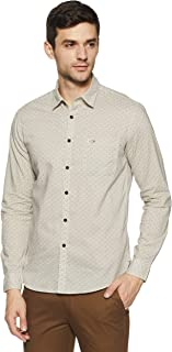 US Polo Men's Printed Slim Fit Casual Shirt