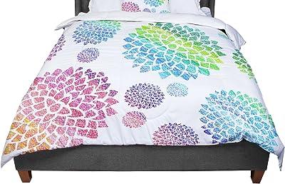 68 X 88 KESS InHouse Love Midge 70S Retro Floral Orange Nature Twin Comforter
