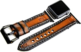 Apple watch band, apple watch strap, apple watch cuff, Leather strap for Apple watch with 38 or 42mm adapters