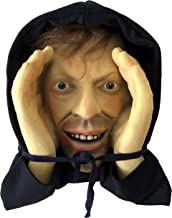 Scary Peeper Window Hanging Mask - Indoor / Outdoor - Great for Halloween, Haunted House Party Scares, Tricks, and Pranks - Peeper Tom