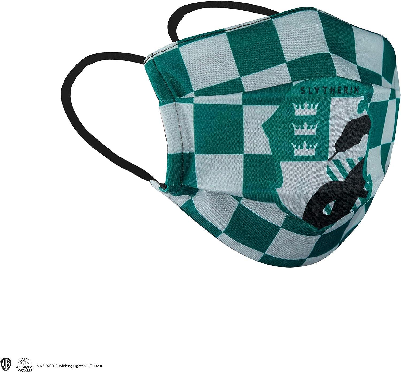 Cinereplicas Máscara de barrera de tela reutilizable - Slytherin - Adulto - AFNOR - probada para 40 lavados
