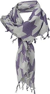 dimensione 100 x 100 cm TigerTie foulard in grigio bianco-grigio argento lavorato con frange