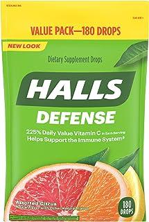 HALLS Defense Assorted Citrus Vitamin C Drops, 180 Drops