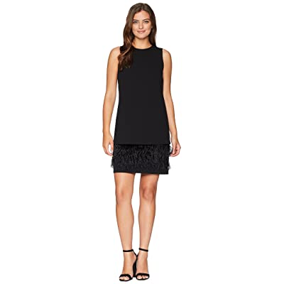 Calvin Klein Feather Hem Dress CD8C2P8E (Black) Women