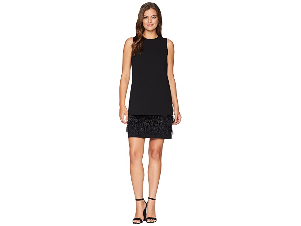 Calvin Klein Feather Hem Dress CD8C2P8E (Black) Women