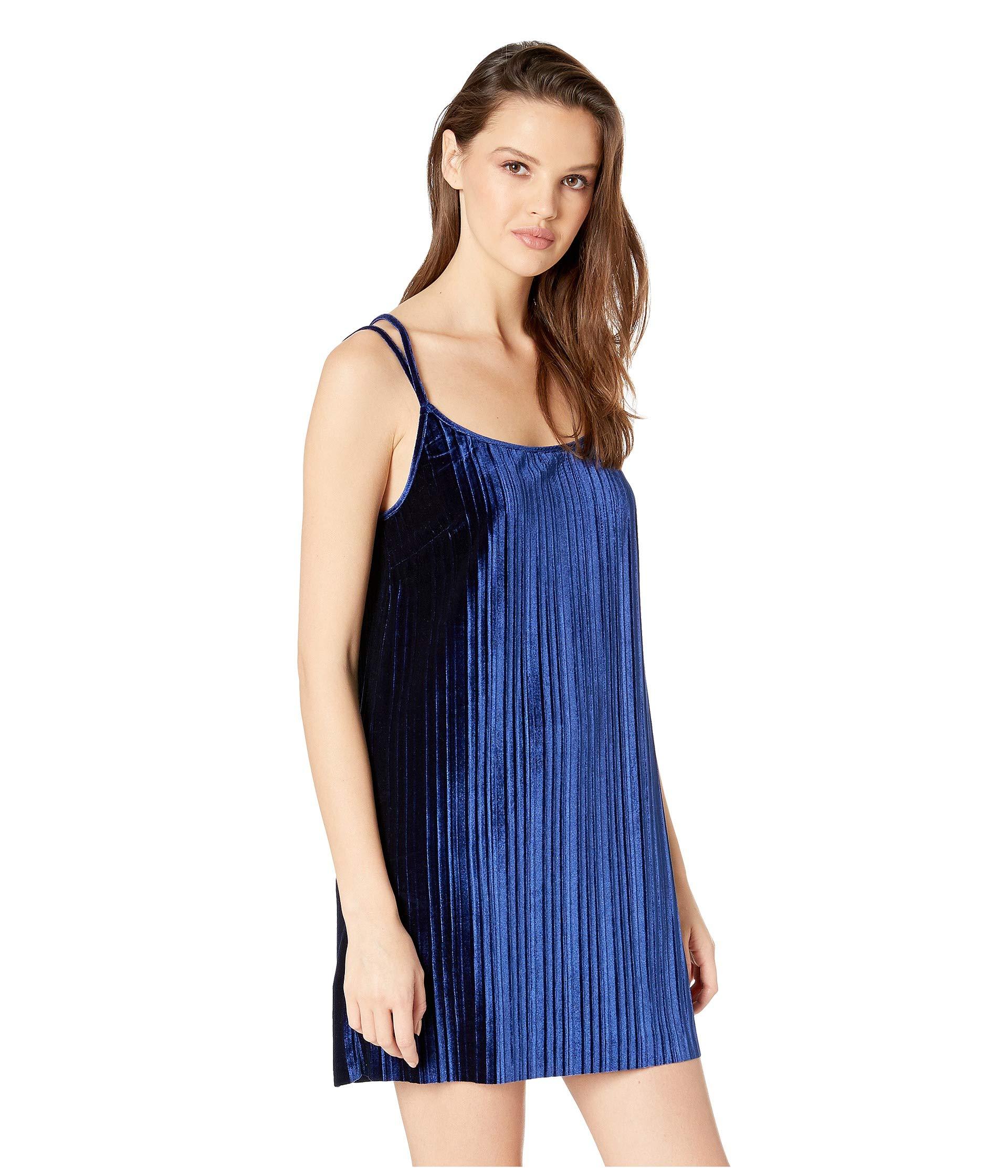 Dakota Slip Blue Velvet Dark Pasadena By Jack Pleated Bb Dress SvqqE