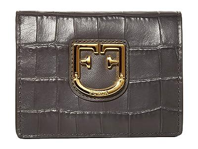 Furla Belvedere Small Bifold (Asfalto) Handbags