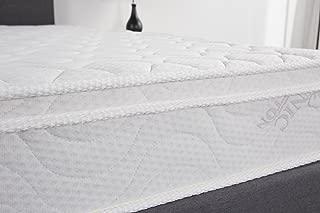 Oliver Smith - Organic Cotton - Euro Top - Revitalize Sleep - 8 Inch - Pocket Spring - Luxury Mattress w Green Memory Foam Certified - Twin