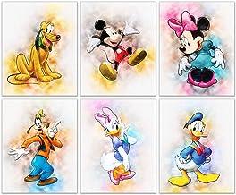 Mickey Mouse Original Watercolor Prints - Set of 6 Nursery W