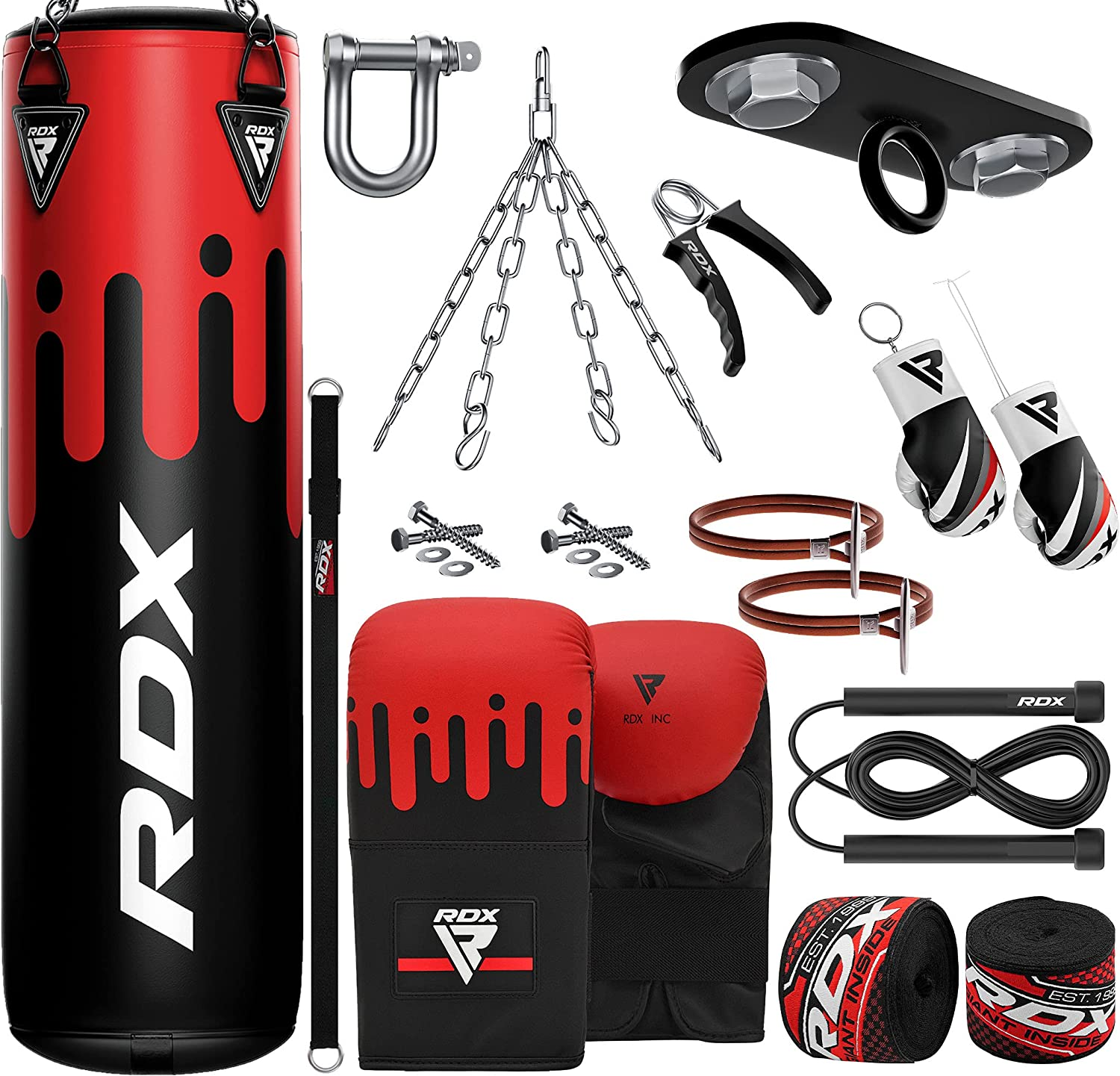 RDX 13PC Punching Bag 5ft 4ft Heavy Filled security Tear Set Hi Non Limited time for free shipping Maya