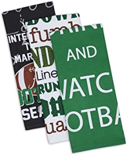 DII Cotton Everything Football Dish Towels, 18 x 28