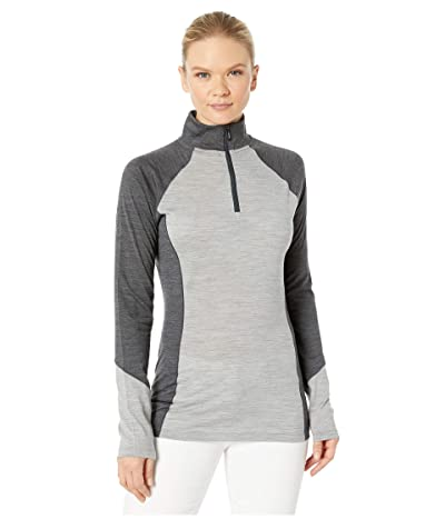 Smartwool Merino 150 Base Layer Color Block 1/4 Zip (Light Gray Heather) Women