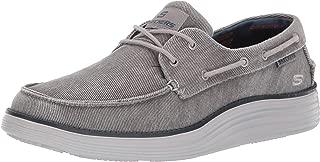Skechers Men's Status 2.0-Lorano Moc Toe Canvas Deck Shoe Oxford