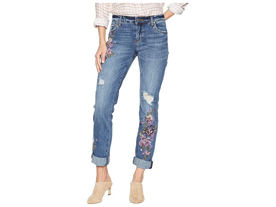 KUT from the Kloth Catherine Boyriend Jeans in Solution (Solution/Medium Base Wash) Women