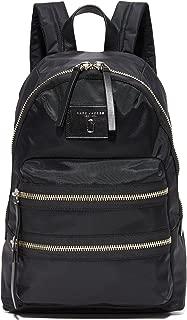 Women's Nylon Biker Backpack, Black, One Size
