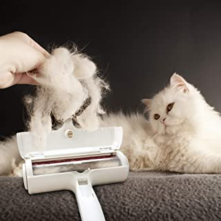 Pet Hair Fur Lint Remover Roller & Bonus Free Dog or Cat Grooming Gloves, Also a Free Ebook 101 Amazing Pet Facts You Need to Know