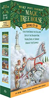 Magic Tree House Boxed Set, Books 13-16: Vacation Under the Volcano, Day of the Dragon King, Viking Ships at Sunrise, and Hour of the Olympics