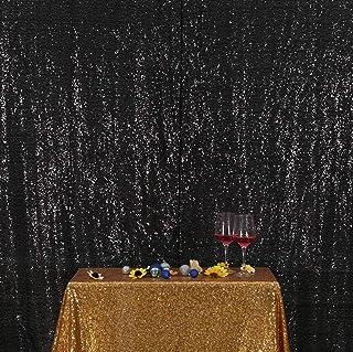 Poise3EHome Pailletten Hintergrund, Fotohintergrund für Hochzeit, Brautparty, Babyparty, schwarz, 4 x 7 Ft