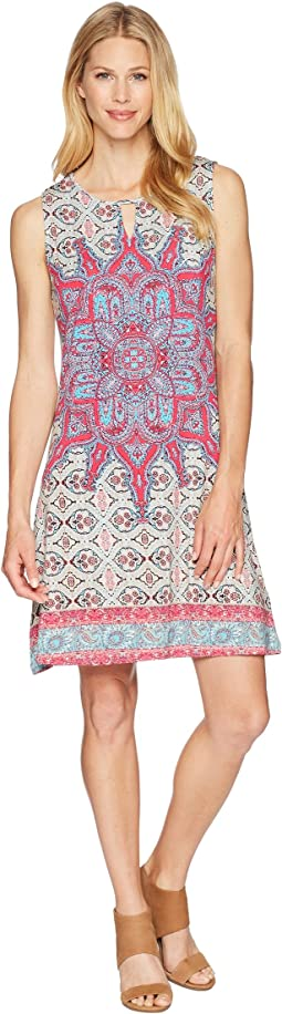 Tribal Printed Jersey Sleeveless Dress