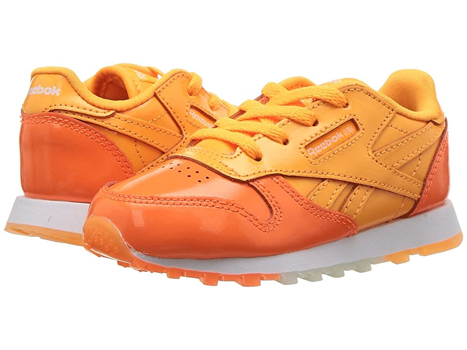 Reebok Kids Classic Leather (Infant/Toddler) (Fire Spark/Wild Orange/White) Kids Shoes