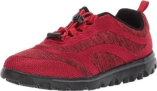Propet Women's TravelActiv Aero Sneaker, Red, 9 X-Wide