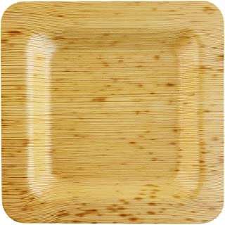 "Bamboo Leaf Square Plate Approx 4.7"" (12cm) 100 pack"