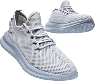 Mens Slip On Sneakers Breathable Fashion Tennis Shoes Non-Slip Lightweight Comfortable Mesh...