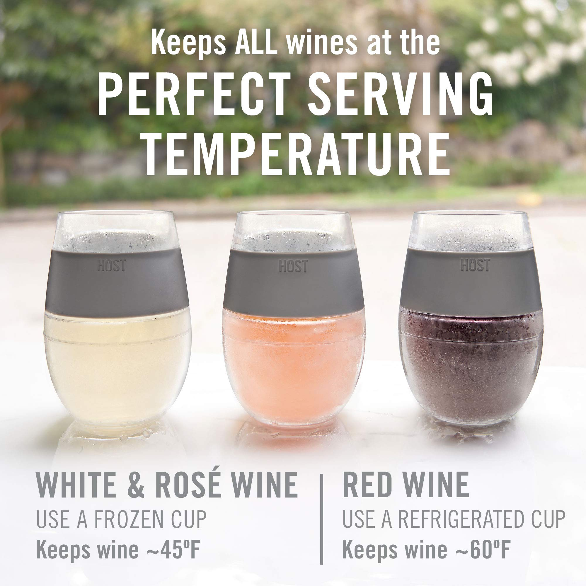 Wine Freeze™ Cooling Cups in Coral (Set of 2) by HOST