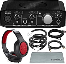 Mackie Onyx Series Artist 1-2 Audio Interface Bundled with Samson Headphones, Cables, and Microfiber Cloth