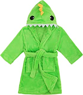 Image of Colorful Bright Green Dino Animal Robe for Boys