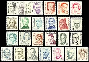 1980-85 Great Americans Series of 26 Mint Stamps - Scott 1844-69