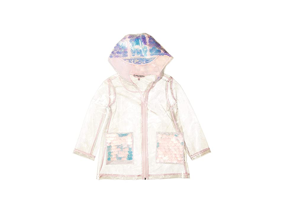 Urban Republic Kids Transparent Raincoat with Sequins (Little Kids/Big Kids) (Clear) Girl