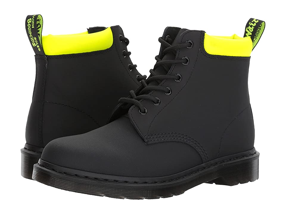 Dr. Martens 939 6-Eye Boot (Black Ajax/Neon Yellow Pu) Men