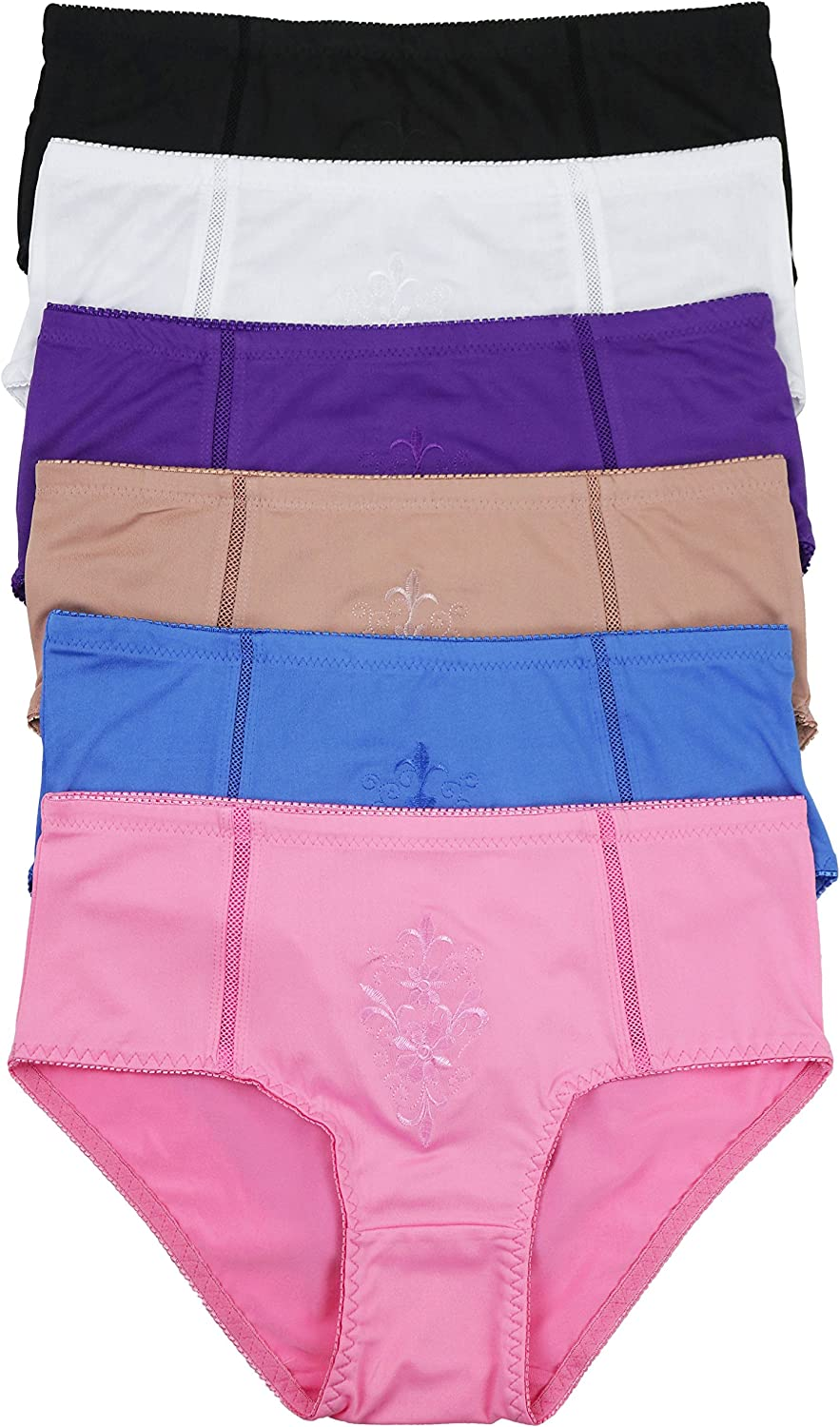 ToBeInStyle Women's Max 80% OFF 6 Pack High-Waisted in Ranking TOP1 Multiple Briefs Style