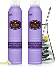 HASK Dry Shampoo Kits for all hair types, aluminum free, no sulfates, parabens, phthalates, gluten or artificial colors, Thickening Biotin - Set of 2 Large 6.5oz Cans