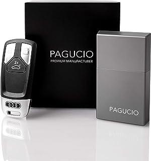 PAGUCIO® Premium Keyless Go Schutz Autoschlüssel Box   Hochwertiges Aluminium Etui für Auto Schlüssel mit 100% Keyless Go Diebstahlschutz (Pro, Space Grey)