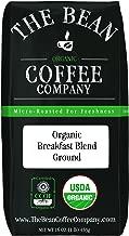 The Bean Coffee Company Organic Breakfast Blend, Medium Roast, Ground, 16-Ounce Bag