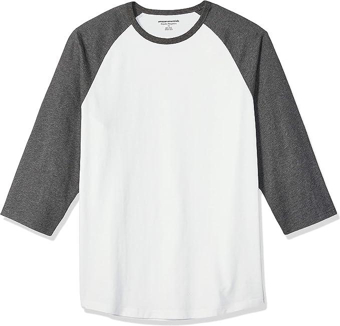 Amazon.com: Amazon Essentials Camiseta de béisbol de manga 3/4 de ajuste regular para hombre : Ropa, Zapatos y Joyería