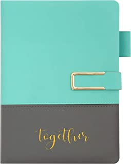 """$31 » Wedding Planner and Organizer Book - PU Leather, Mint Green with Gray, 8.5 x 6"""" - Engagement Planning Organizer with Gold ..."""