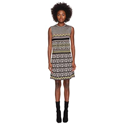M Missoni Lurex Ribbon Knit Dress (Eggplant) Women