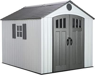 Amazon com : Lifetime 6405 Outdoor Storage Shed with Window