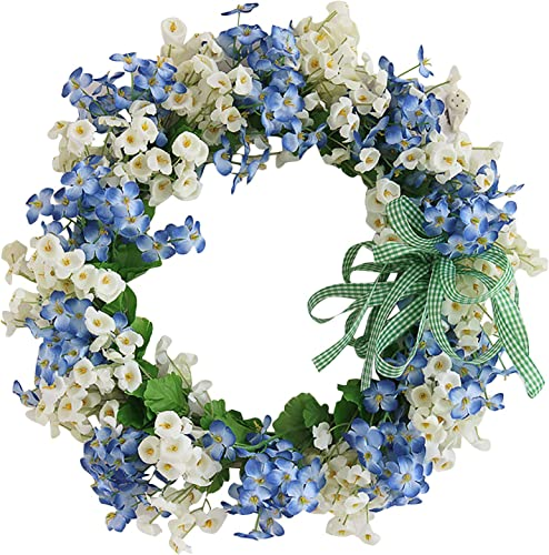 """discount Artificial Spring Wreath Flower Wreath for Front Door Colorful Spring Summer 2021 Floral Wreath Farmhouse Wall online sale Window Hanging Decoration Ornament Holiday Home Decor, 12/14"""" outlet online sale"""